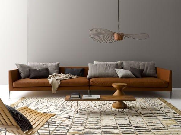 pilotis sofa aus leder kollektion pilotis by cor sitzm bel helmut l bke design metrica. Black Bedroom Furniture Sets. Home Design Ideas