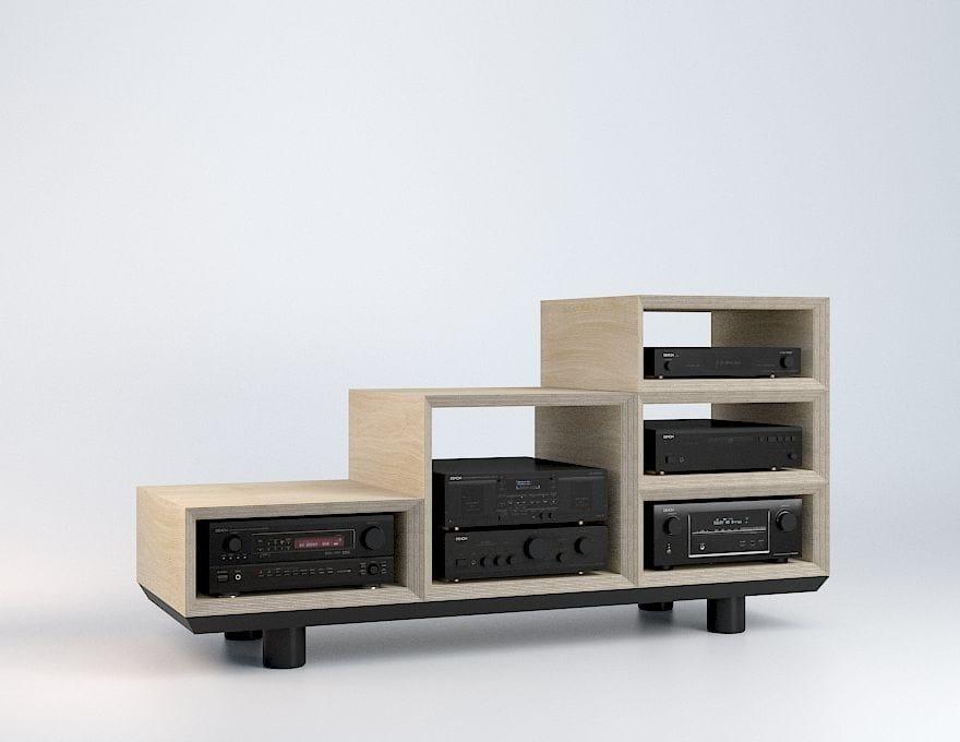 mobile tv componibile in multistrato pima by malherbe edition design thomas bleicher. Black Bedroom Furniture Sets. Home Design Ideas