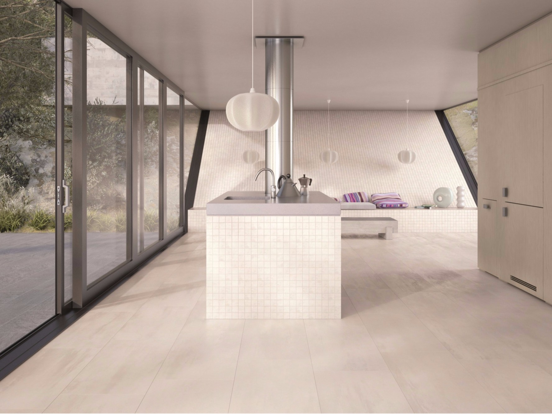 Planet mosaic by ceramiche marca corona for Carrelage sol cuisine