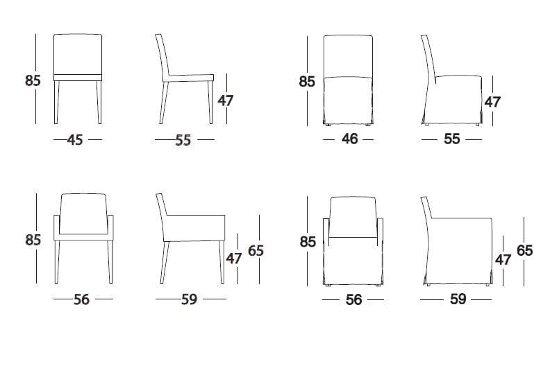 Silla tapizada de cuero colecci n plano by marac for Planos silla ergonomica pdf