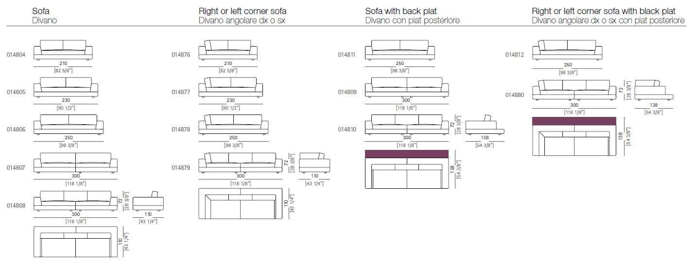 Design sofa plat von arketipo mit integriertem regal und beistelltisch 2014 11 18 - Design sofa plat von arketipo mit integriertem regal und beistelltisch ...