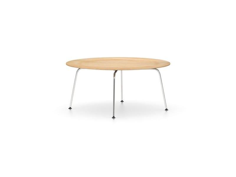 Mesa de centro redonda en acero de diseño para salón plywood group ...