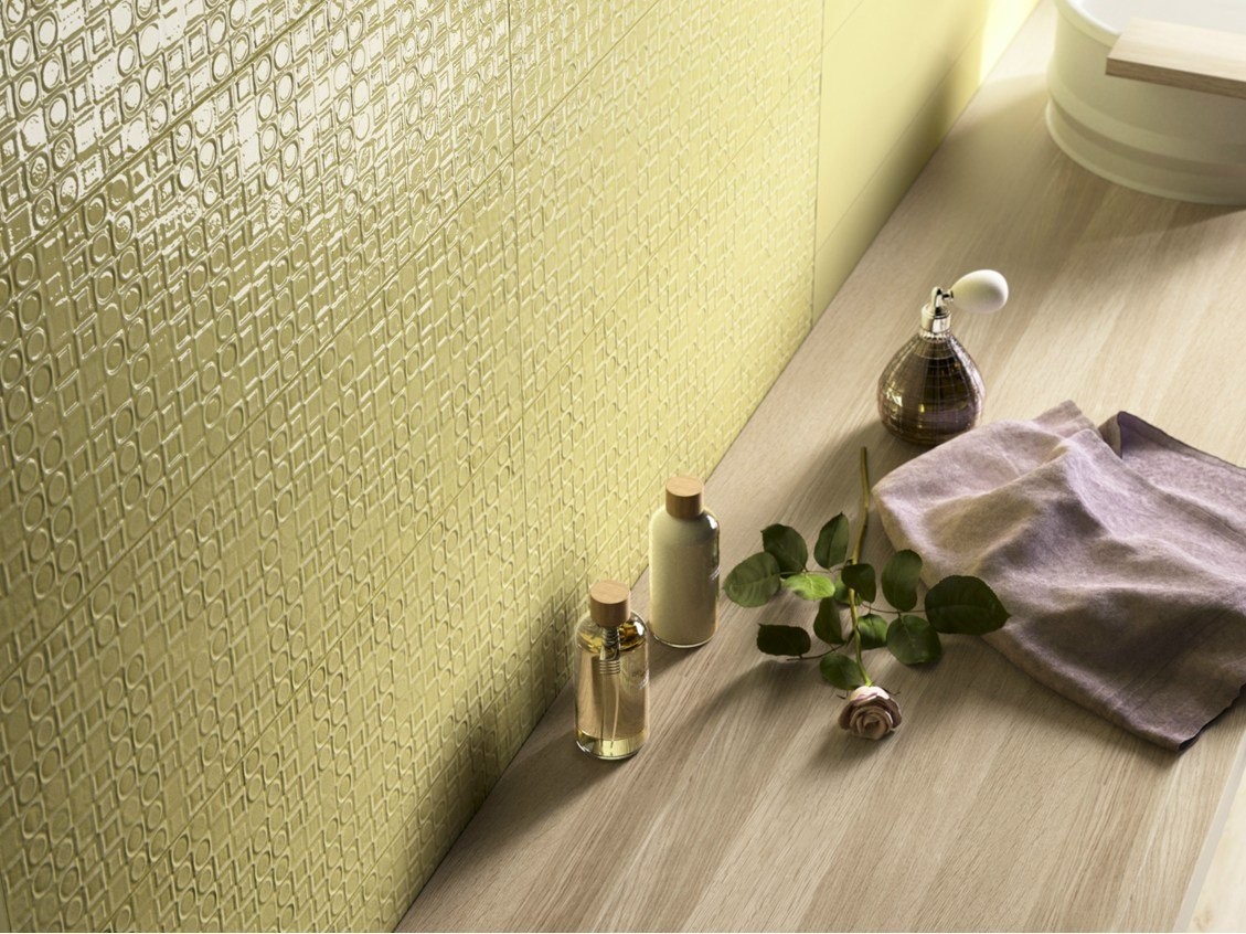 Double fired ceramic wall tiles poetique by cooperativa for Ceramica d imola