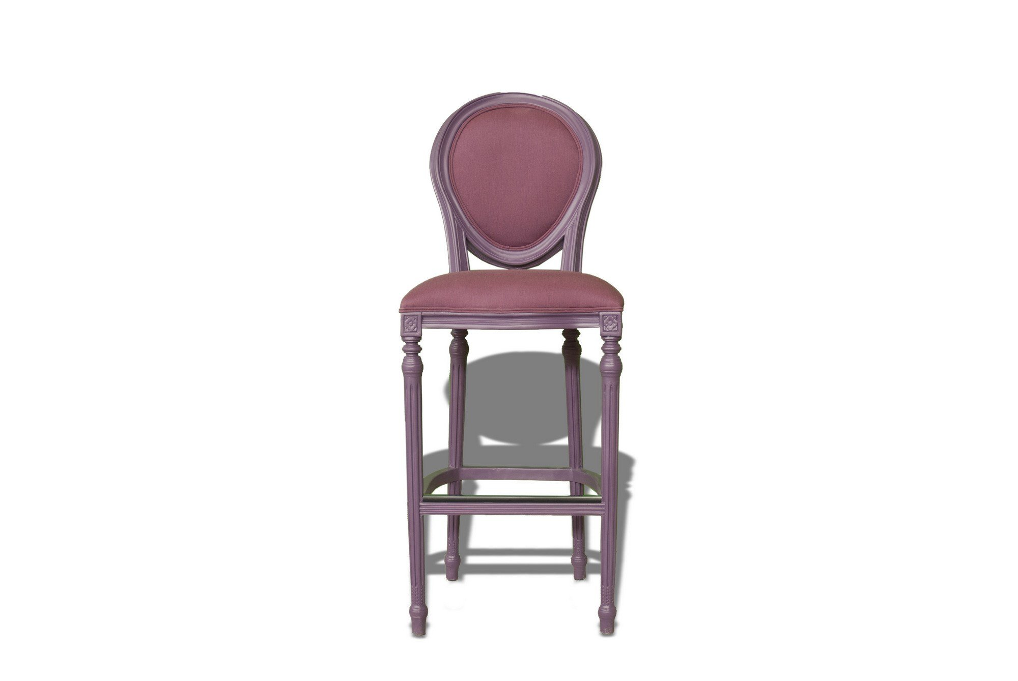 Upholstered Wooden Counter Stool POLART Wooden Chair POLaRT. Full resolution  image, nominally Width 2000 Height 1339 pixels, image with #734F5D.