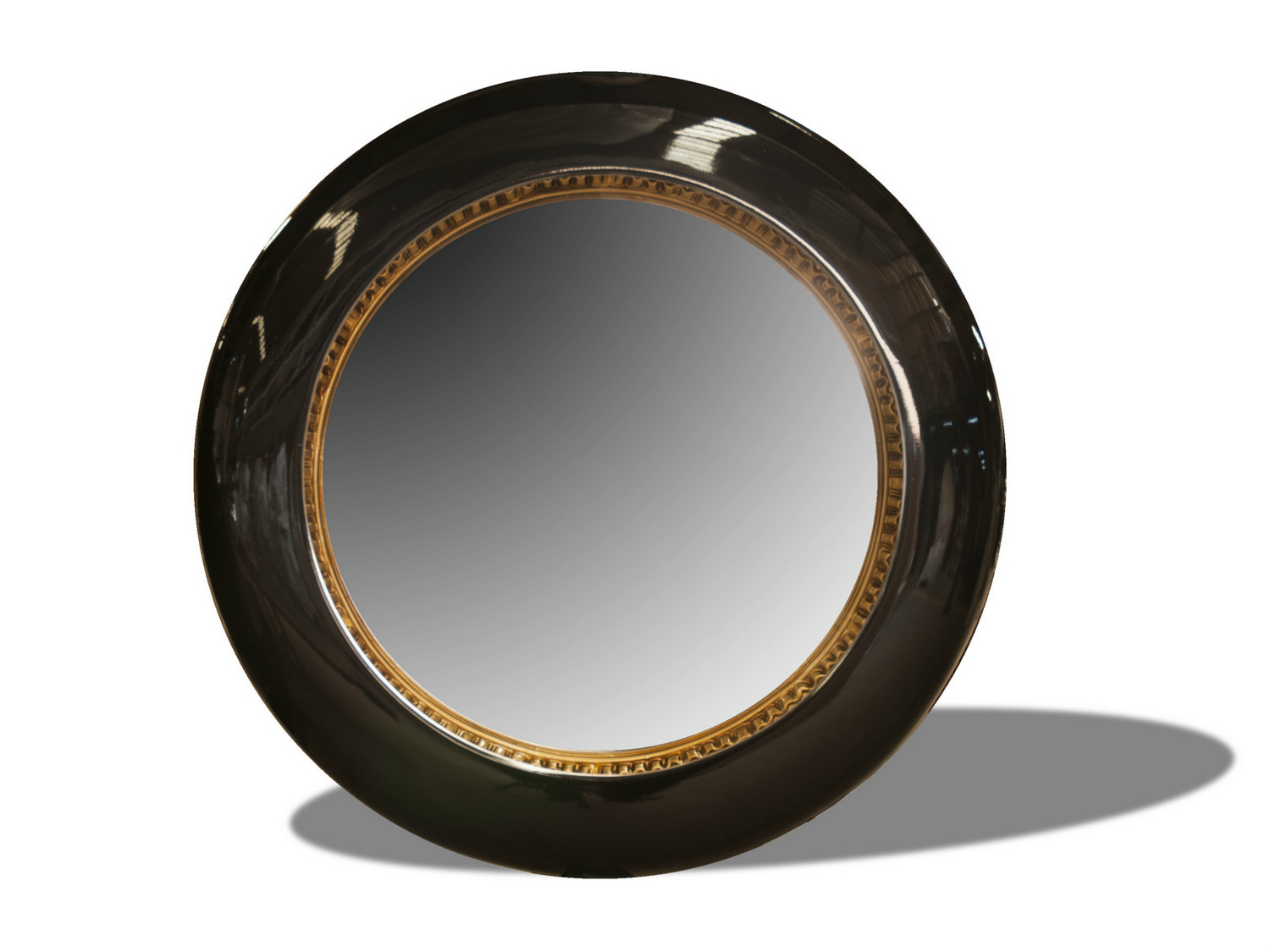 Round wall mounted framed mirror polart collection by polart Round framed mirror