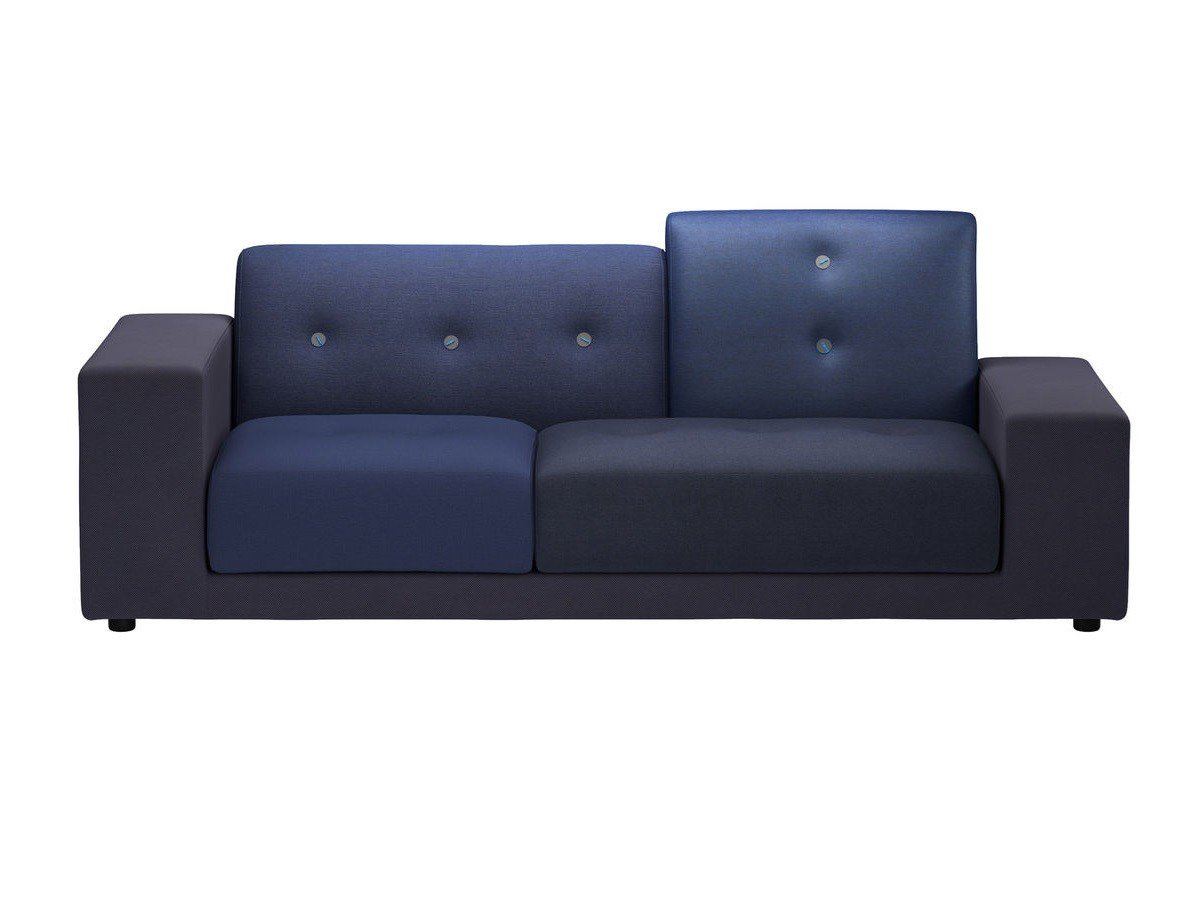 upholstered fabric sofa polder compact by vitra design hella jongerius. Black Bedroom Furniture Sets. Home Design Ideas