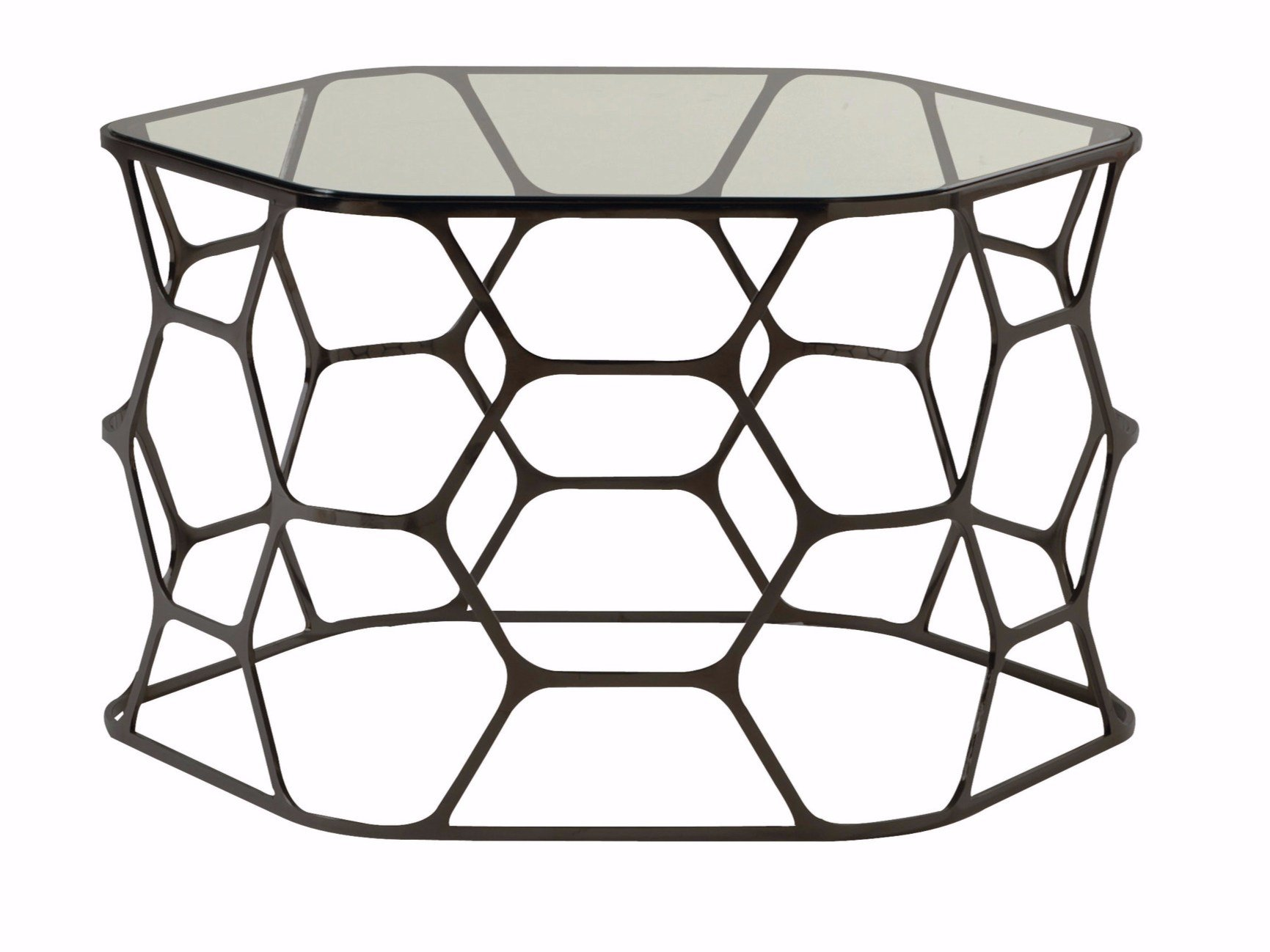 Glass and steel coffee table pollen by roche bobois design sacha lakic Roche bobois coffee table