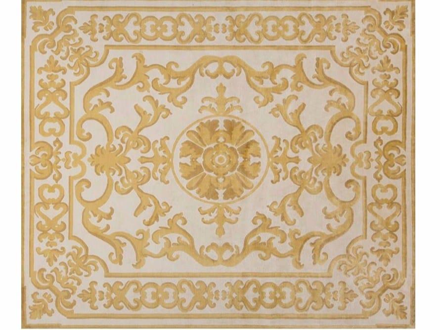 Motiv Handgearbeiteter rechteckiger Teppich POMPADOUR