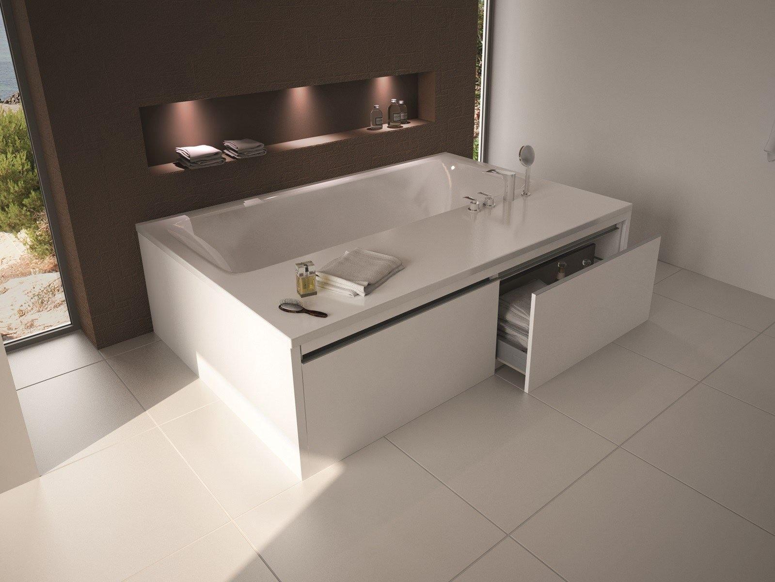 Vasca da bagno rettangolare in acrilico pool solo by - Vasca da bagno acrilico ...