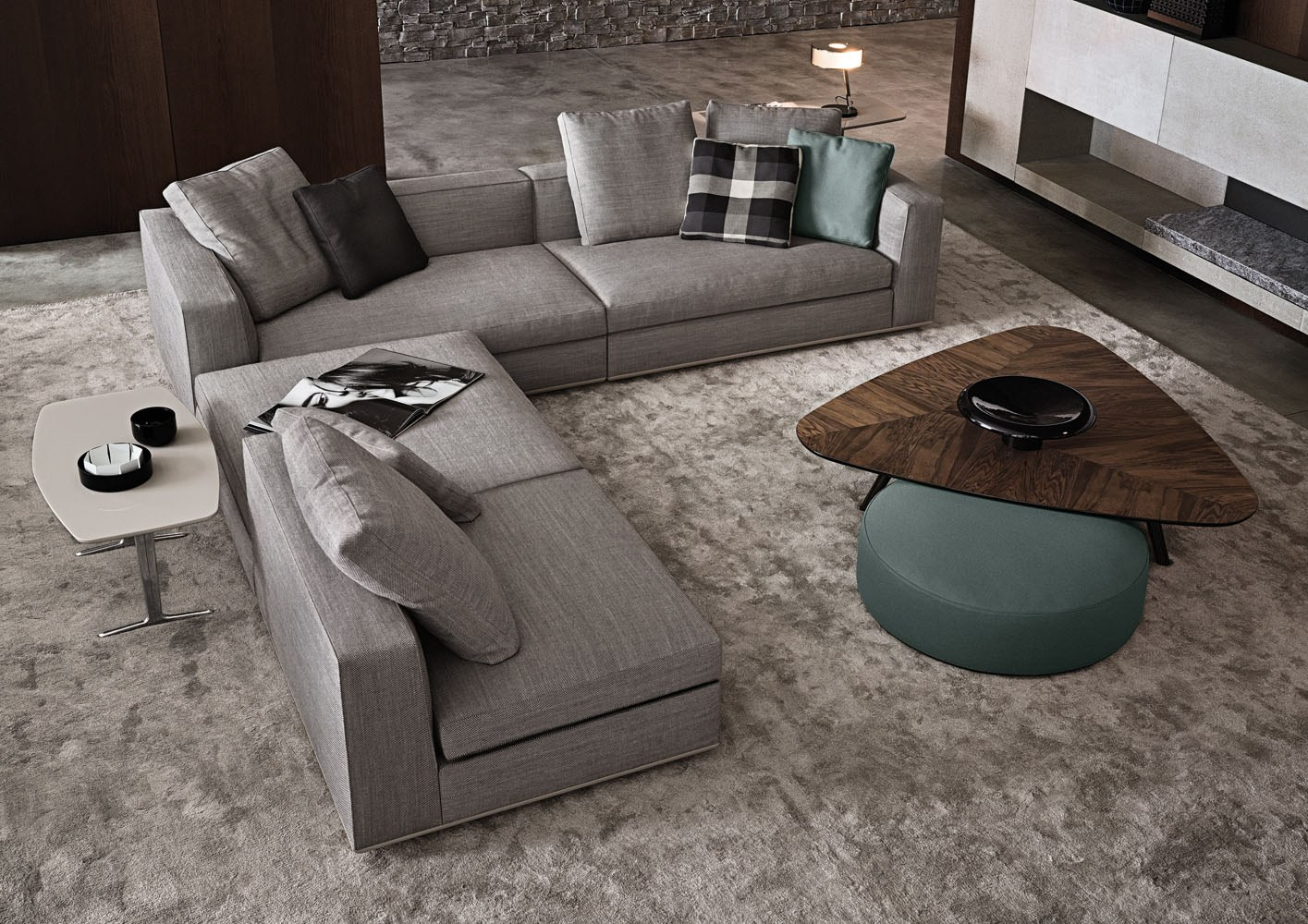 Powell by minotti design rodolfo dordoni for Sofa gebraucht