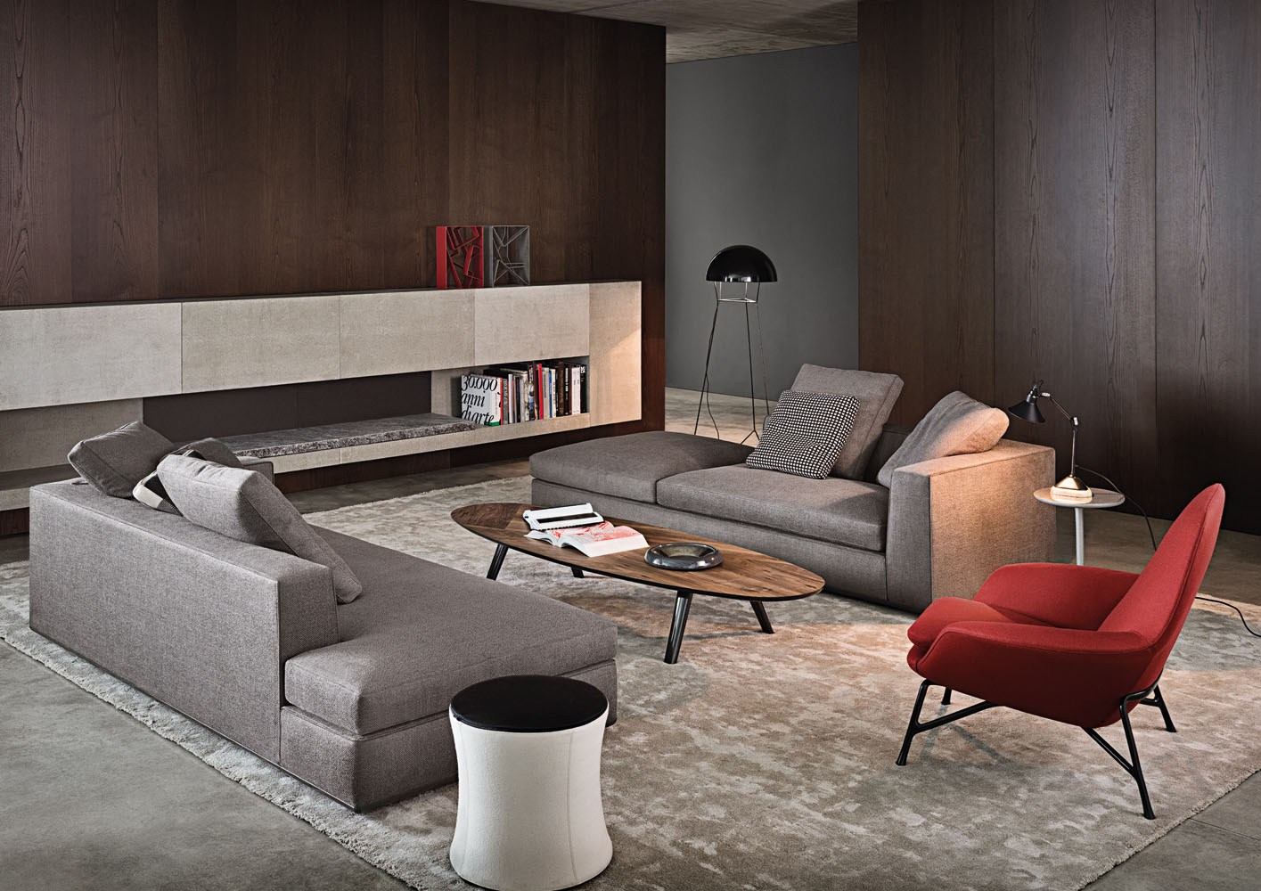 powell by minotti design rodolfo dordoni. Black Bedroom Furniture Sets. Home Design Ideas
