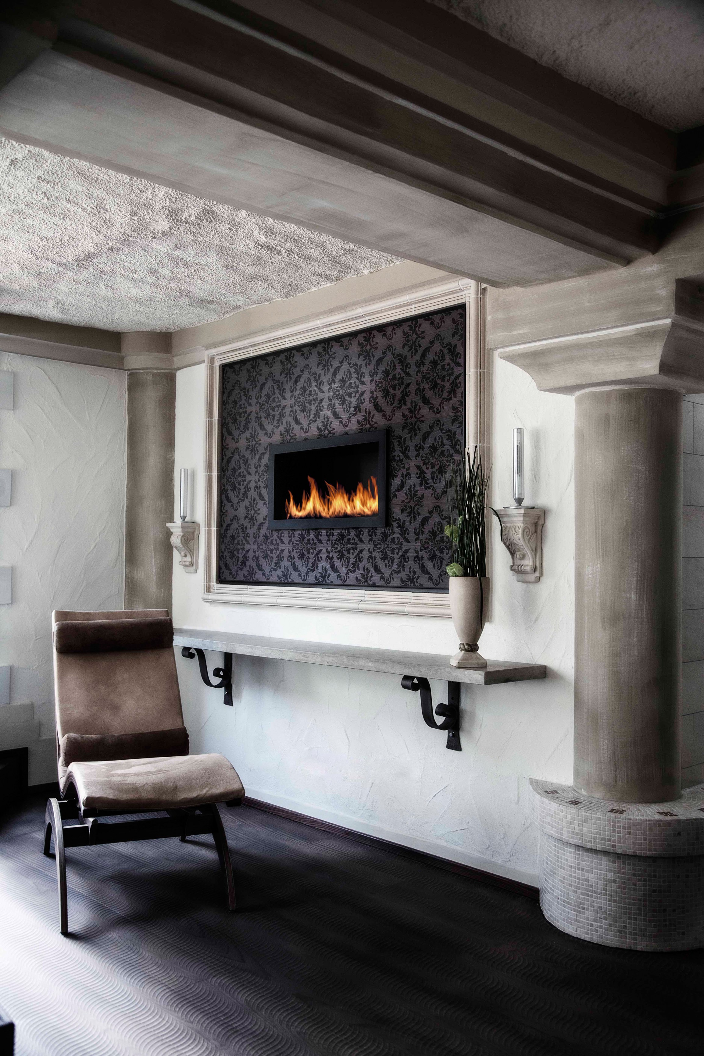 Built In Bioethanol Wall Mounted Fireplace Primefire In Casing By Planika