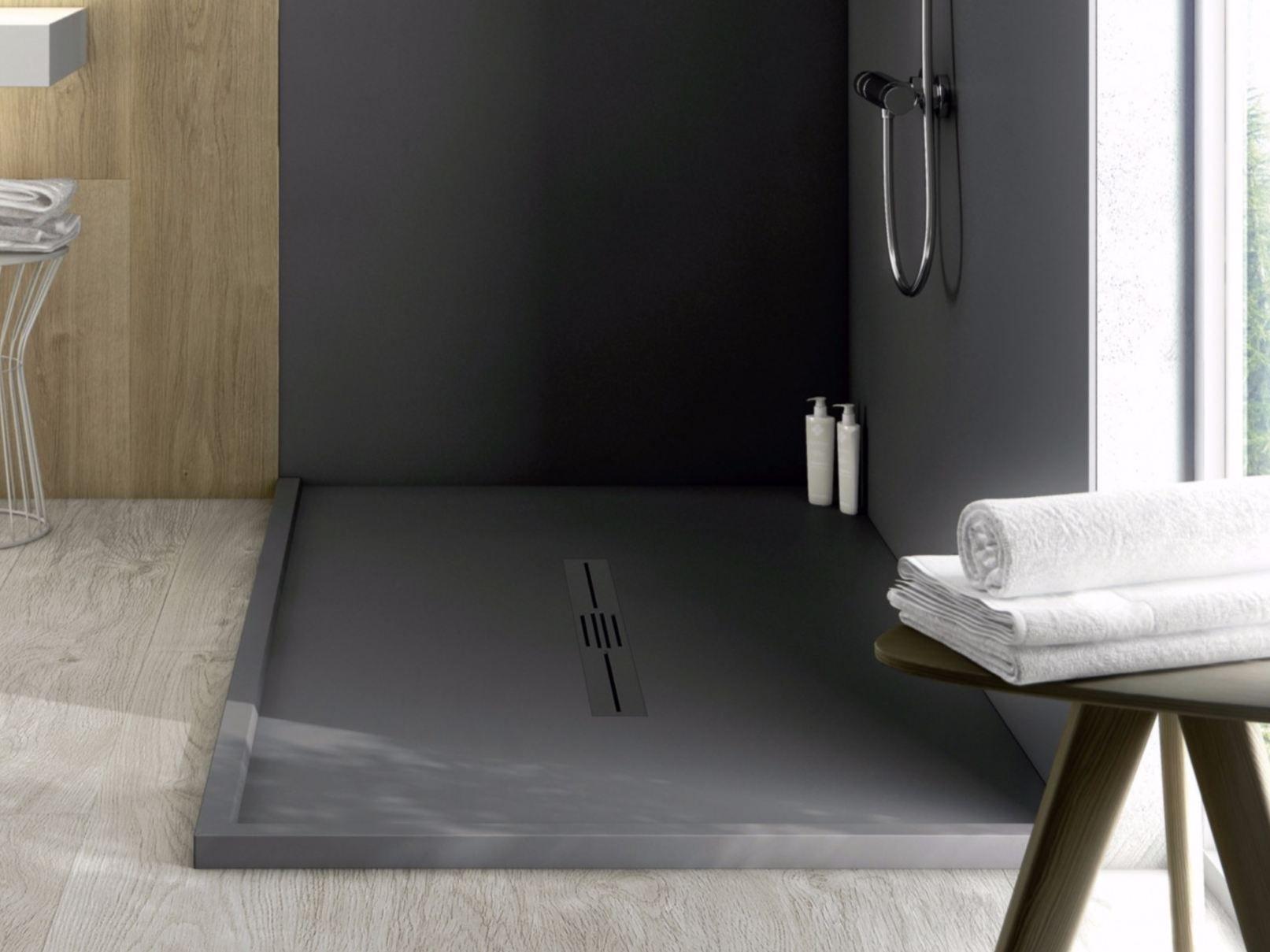 Piatto doccia antiscivolo in silexpol silex privilege by for Piatto doccia fiora