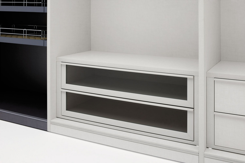 Progetto stelo armadio con specchio collezione spaziolab by silenia