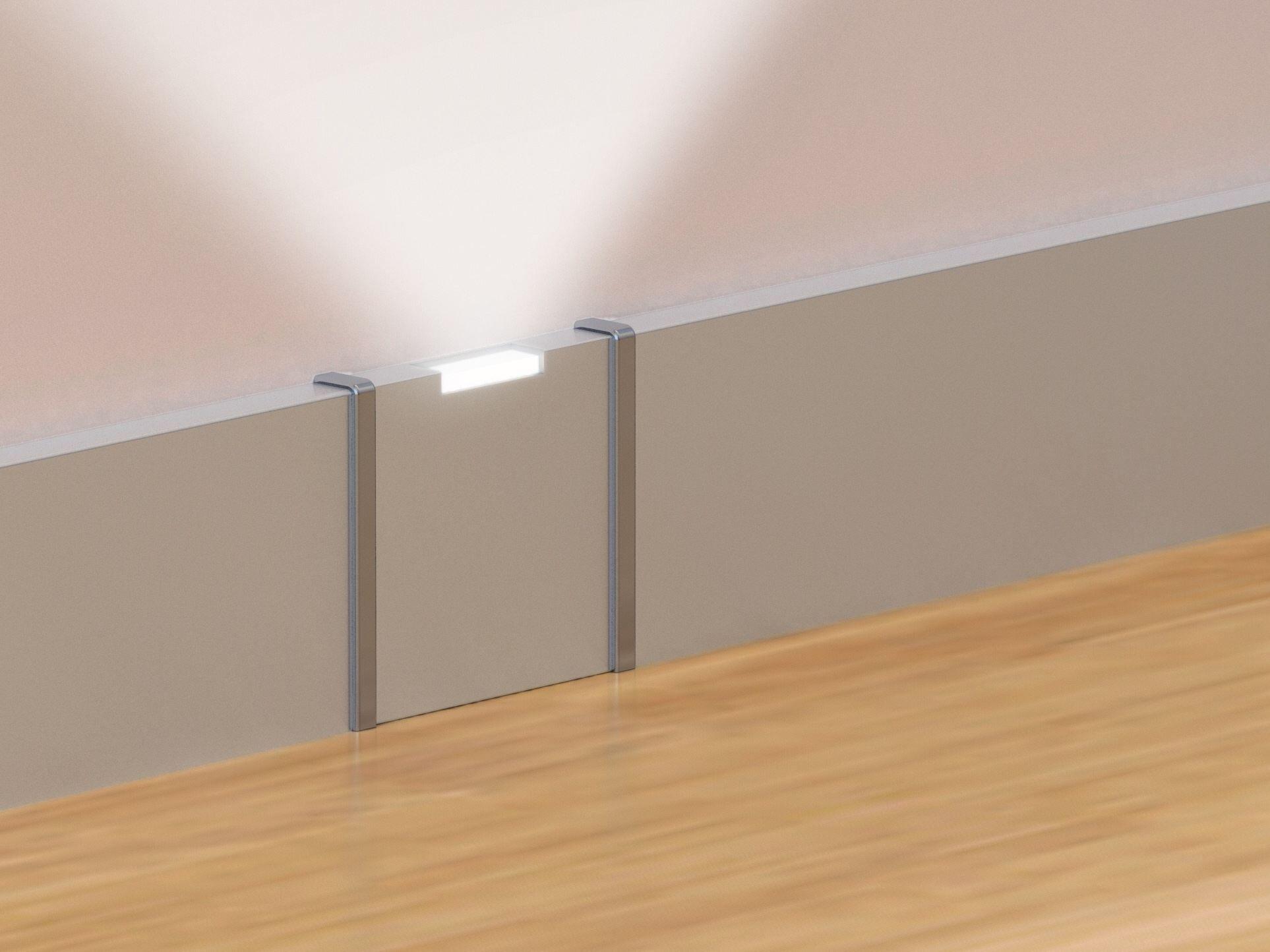 fu leiste aus aluminium mit led licht prolight iceberg kollektion prolight by profilpas. Black Bedroom Furniture Sets. Home Design Ideas