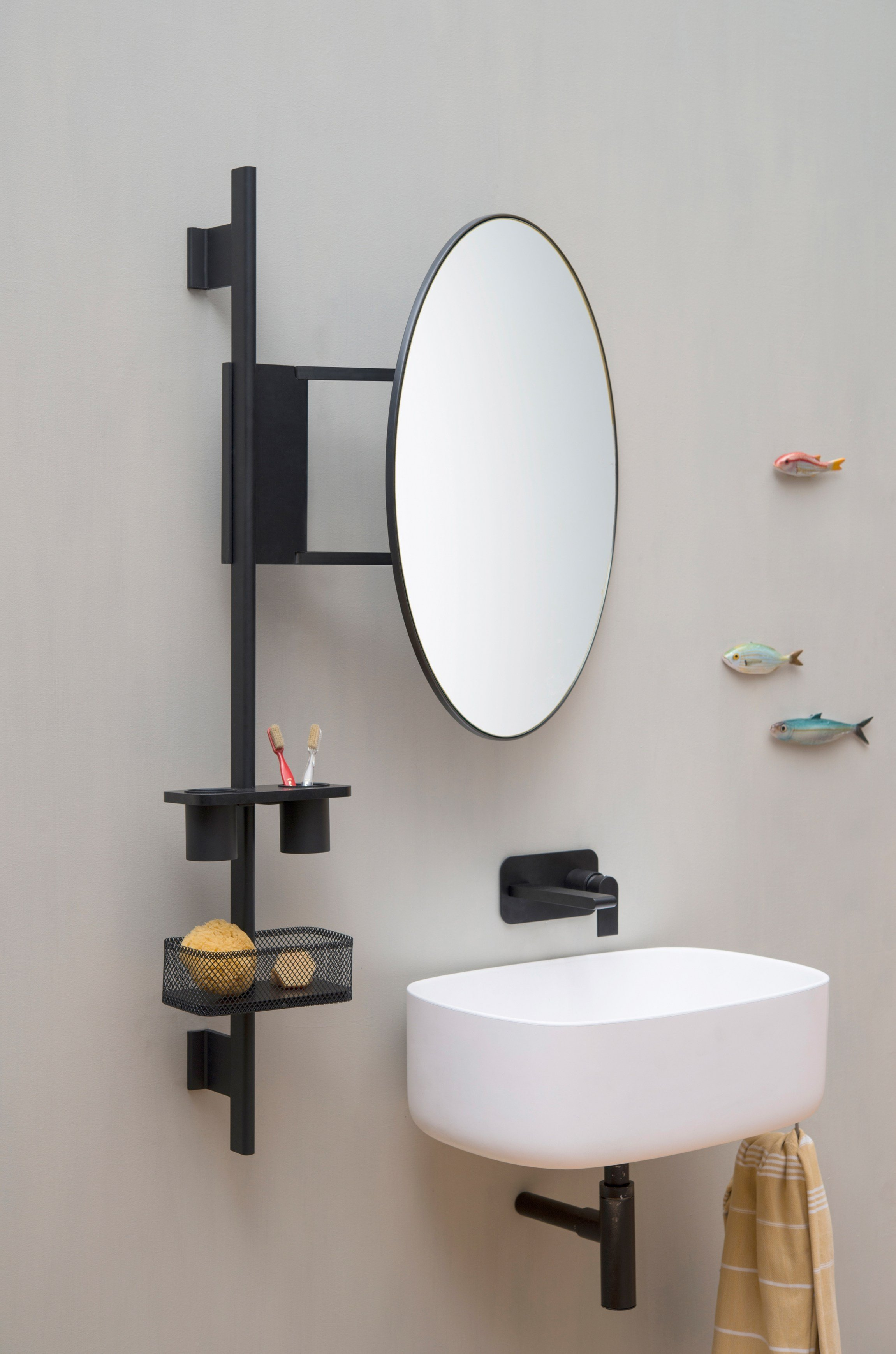 Bathroom wall shelf prop by ever by thermomat saniline design monica graffeo - Etagere mural design ...