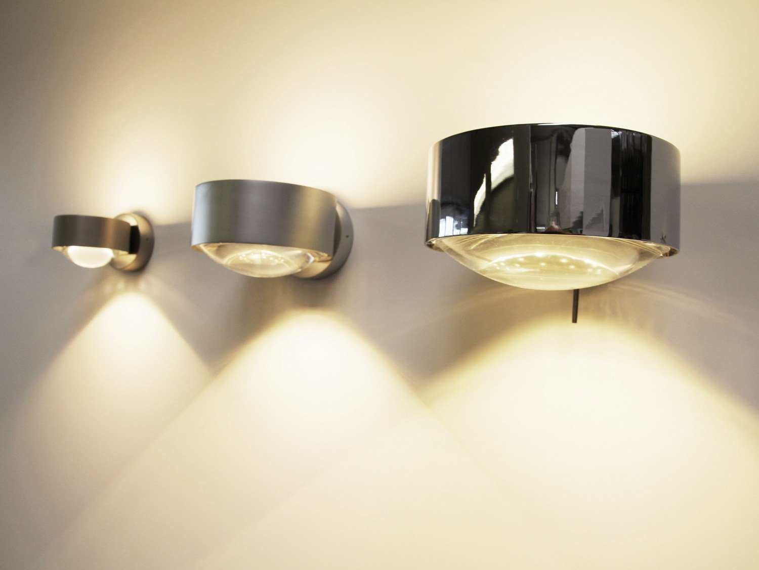 adjustable metal wall light puk wall by top light design