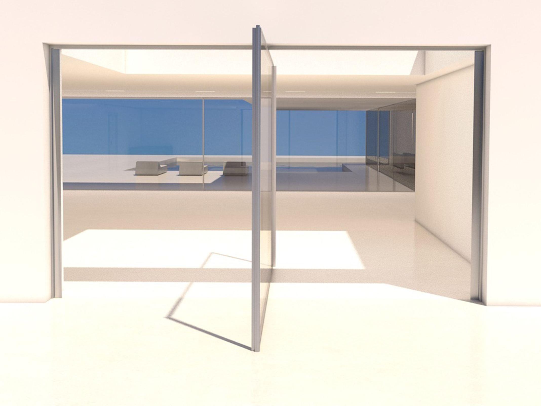 Fenêtre à ouverture pivotante en aluminium ouverture pivot by otiima
