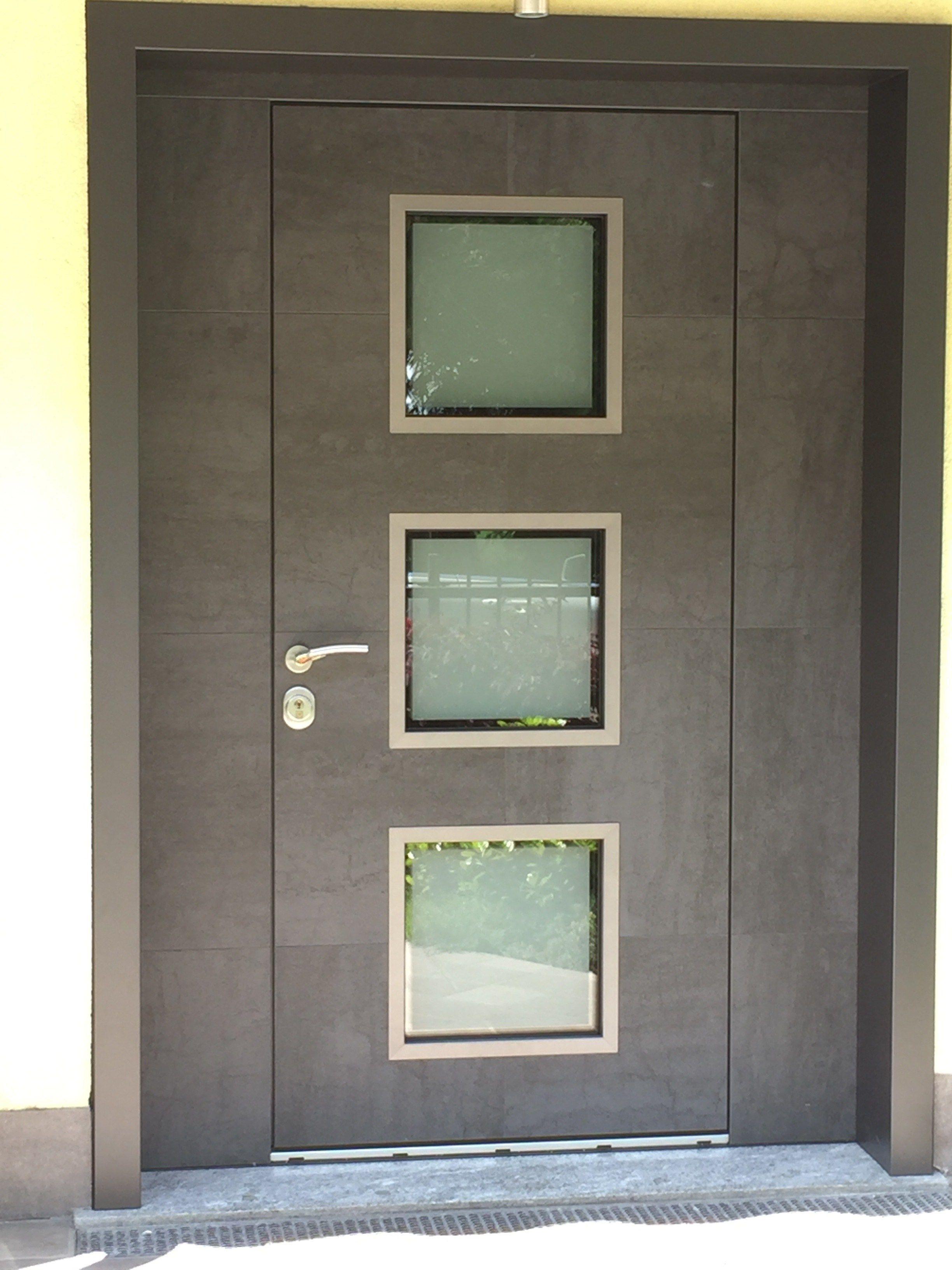 Porta d 39 ingresso blindata con pannelli in vetro frame by - Porta ingresso blindata ...