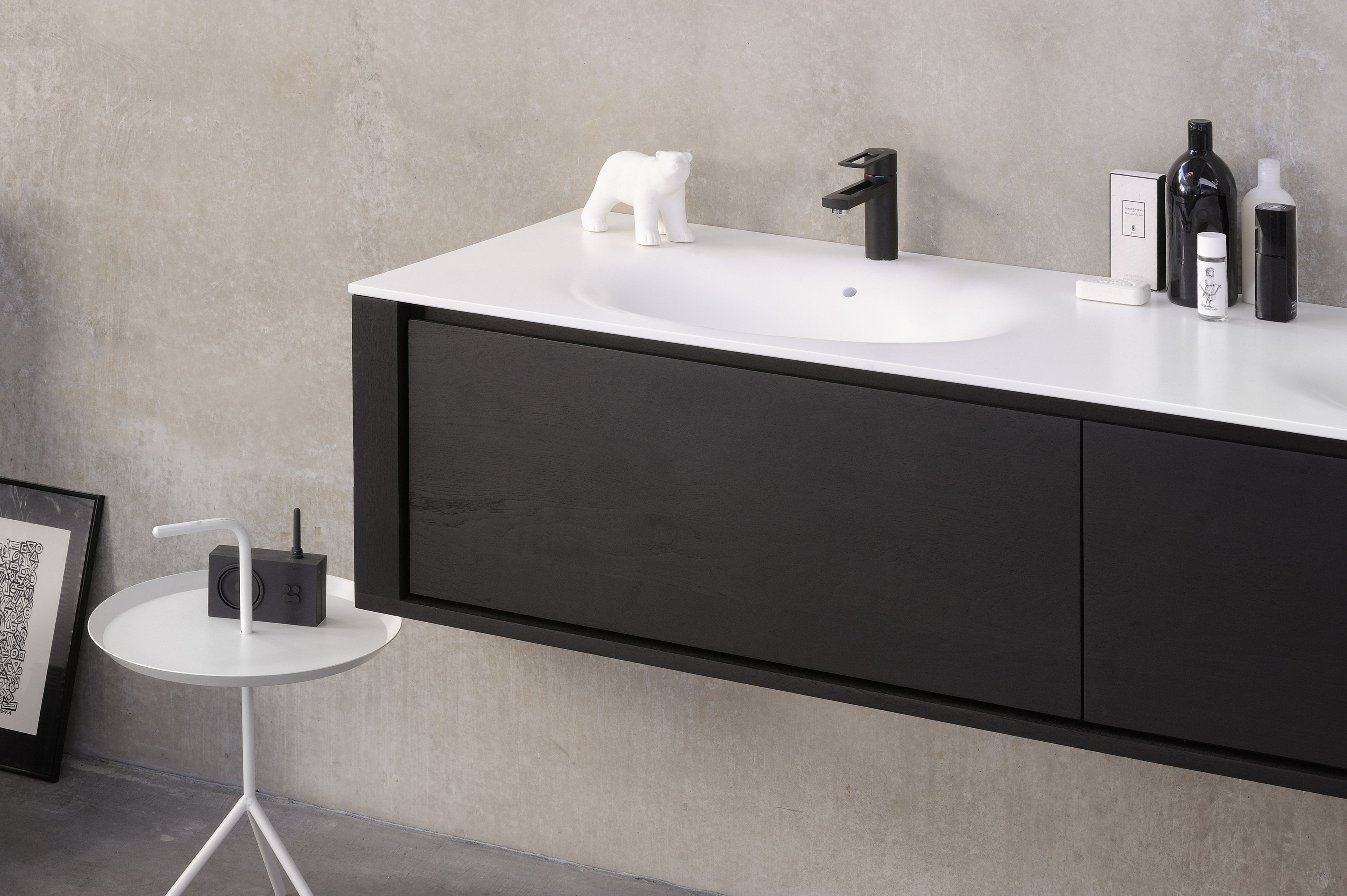 #70655B QUALITIME BLACK Vanity Unit With Drawers Qualitime Black  with 3467x2307 px of Best Wall Mounted Dresser Drawers 23073467 image @ avoidforclosure.info