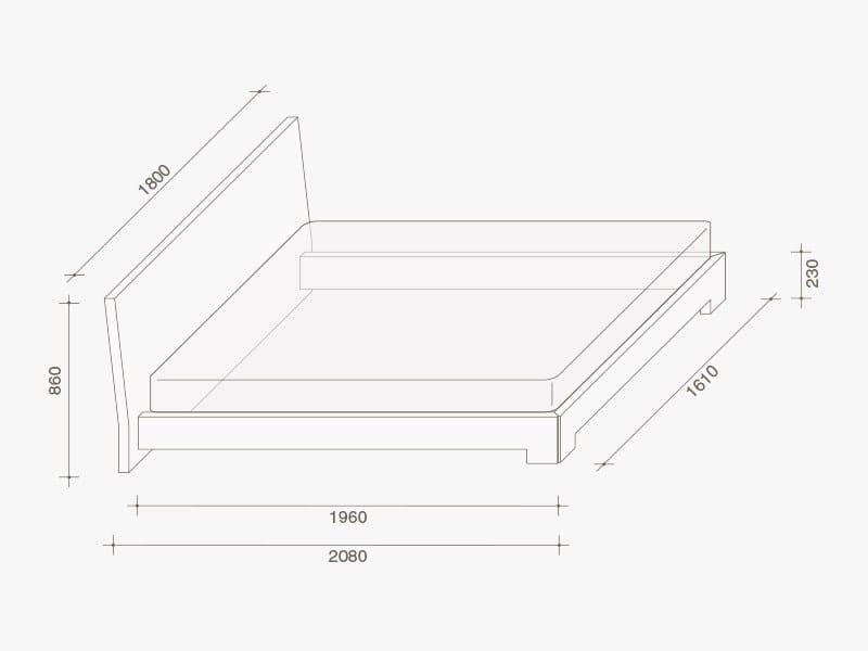 lit double laqu en ch ne quaranta by lema design. Black Bedroom Furniture Sets. Home Design Ideas
