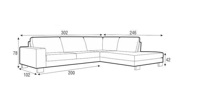 Quattro divano angolare collezione quattro by sits for Divano 5 posti lineare dimensioni