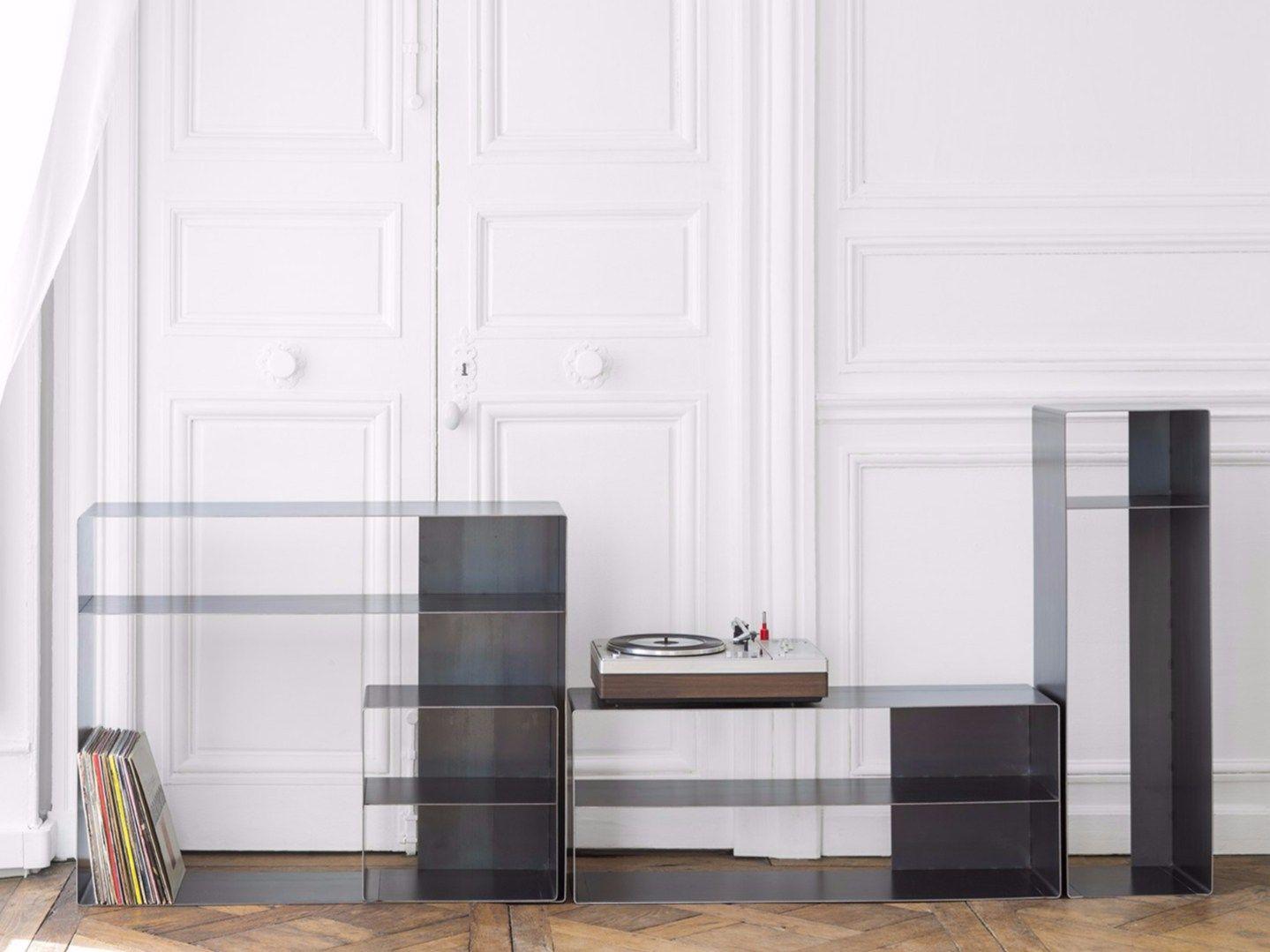 Quattro libreria in metallo by vidame creation design for Libreria divisoria con porta