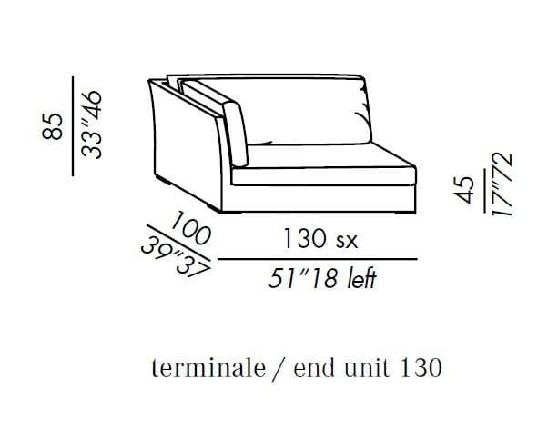 QUEEN Modular sofa by Meridiani