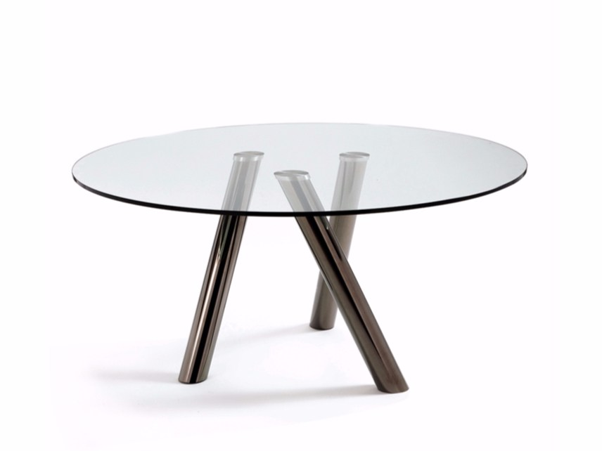 Mesa redonda de cristal ray by cattelan italia dise o - Mesa redonda de cristal ...