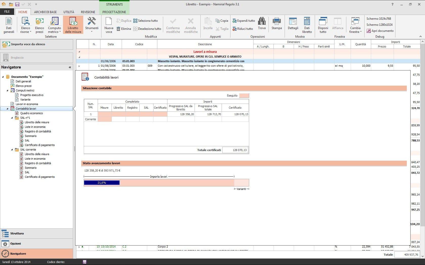 Computo metrico e contabilit lavori regolo by edilizia for Software di progettazione edilizia