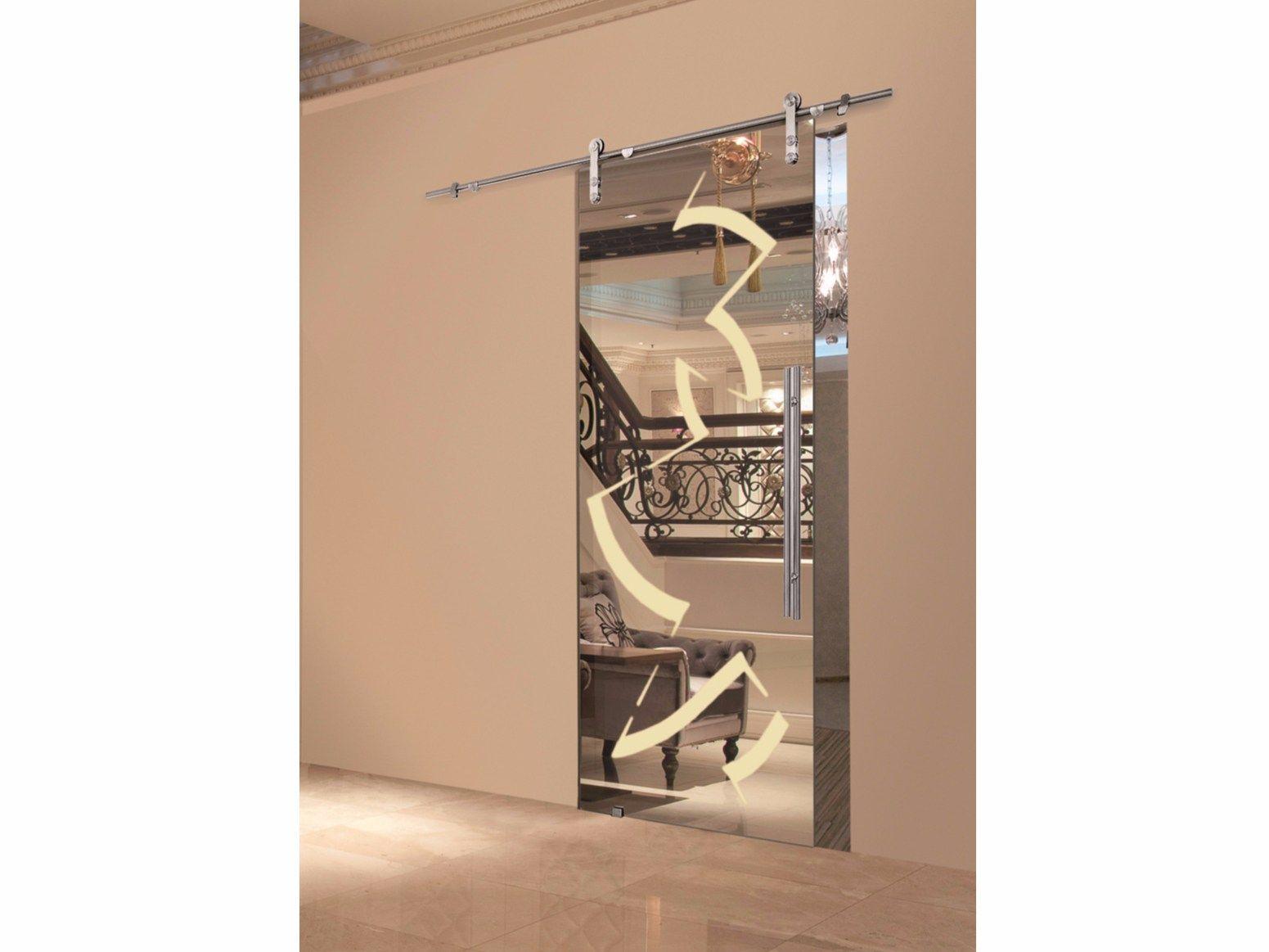 Porta scorrevole in vetro riflessi mirror champagne by - Casali porte scorrevoli ...