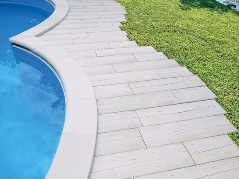 Bordo per piscina in pietra ricostruita roma by micheletto pavimentazioni - Bordo piscina prezzi ...