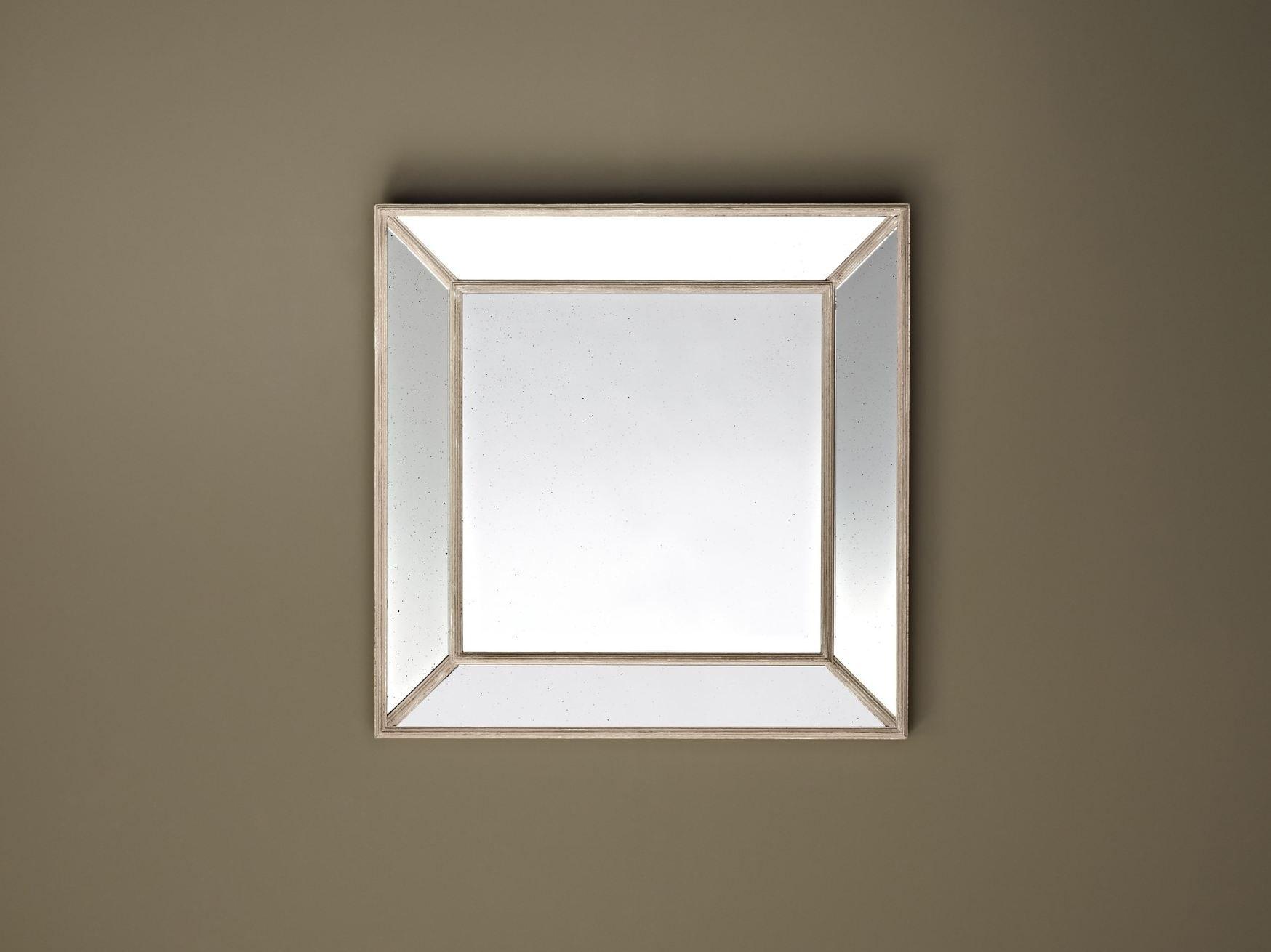 Specchio quadrato a parete con cornice RUSTIC by DEKNUDT MIRRORS