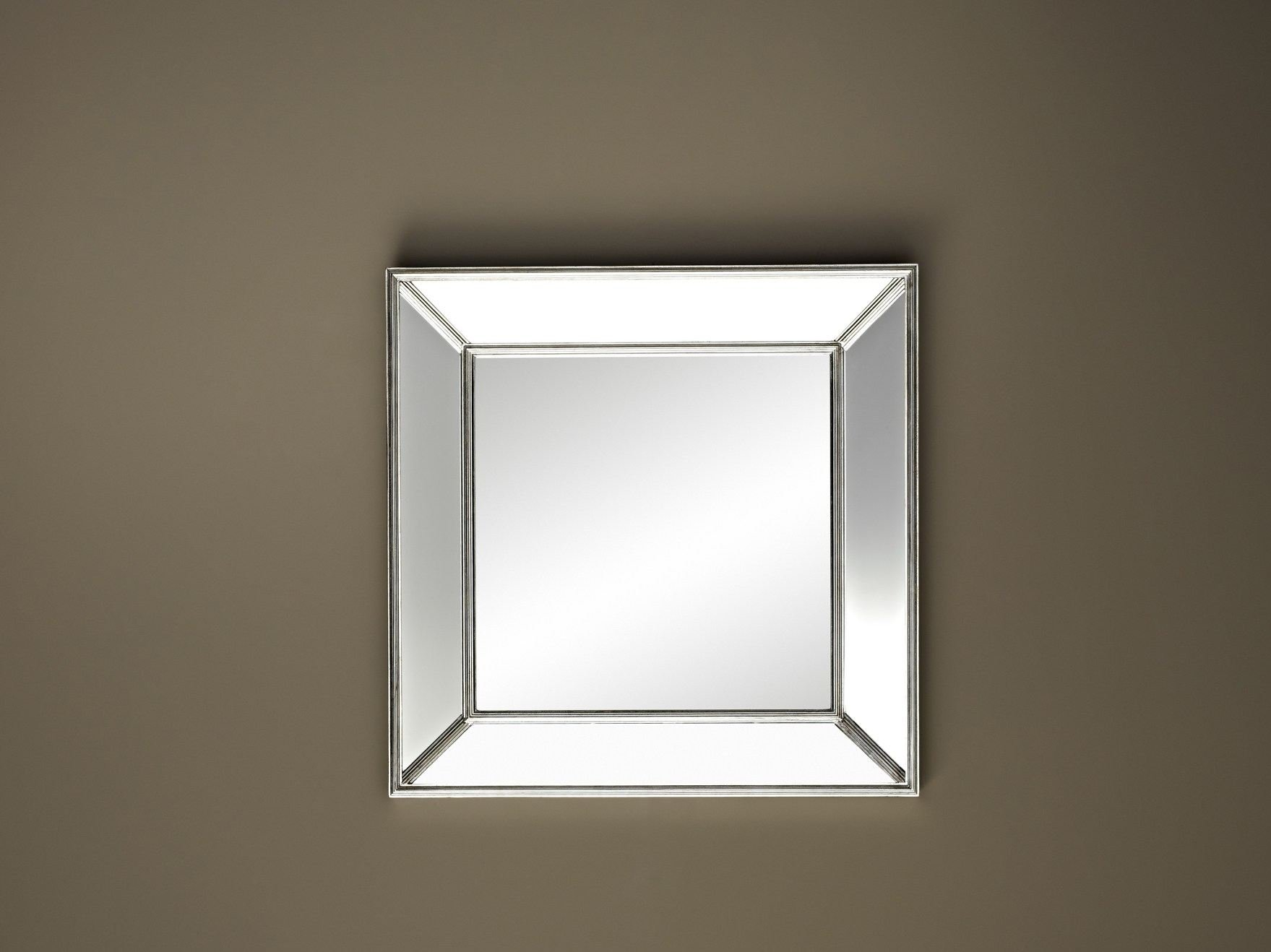 Specchio quadrato a parete con cornice rustic by deknudt - Specchio senza cornice ...