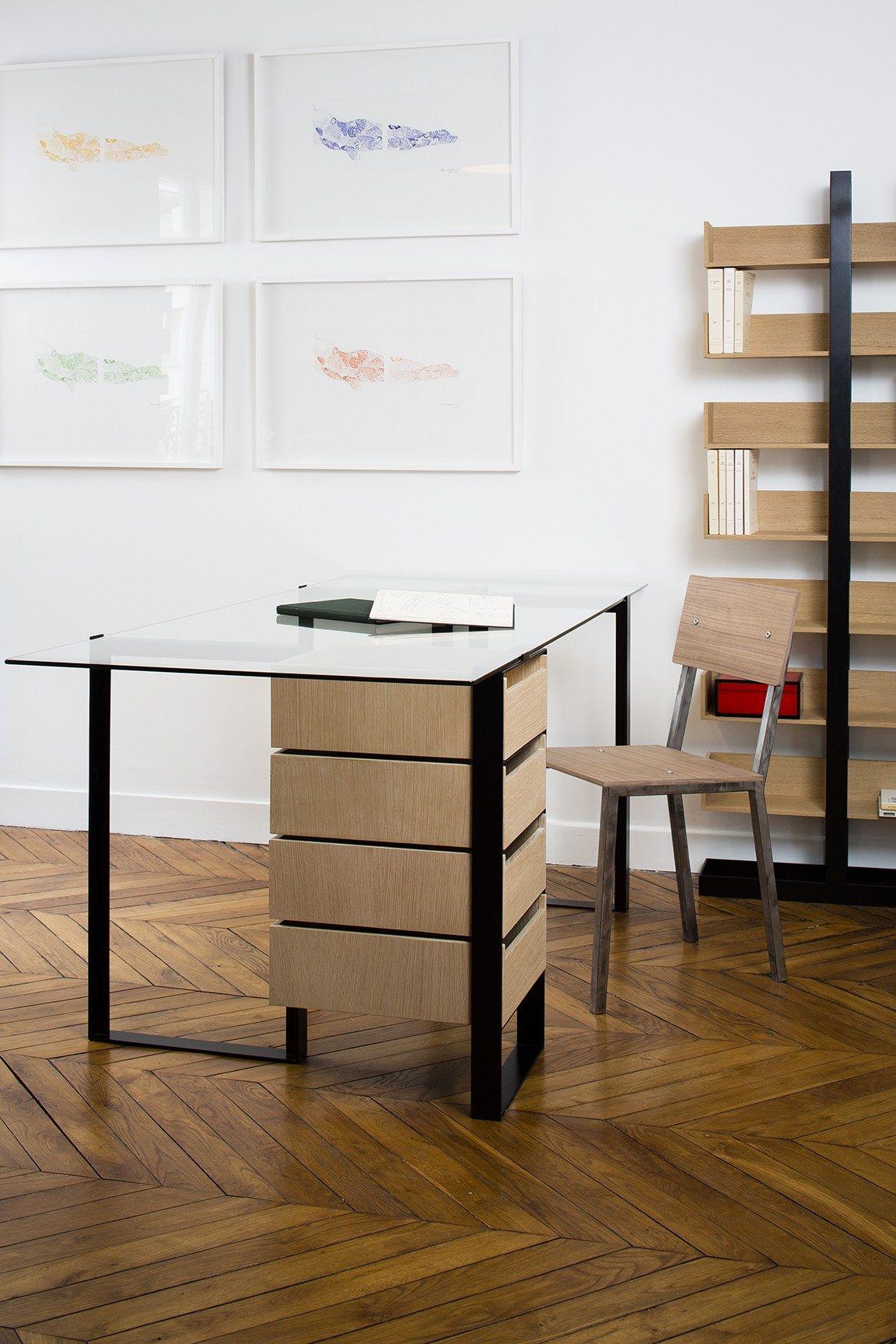s verin scrivania con cassetti by alex de rouvray design. Black Bedroom Furniture Sets. Home Design Ideas