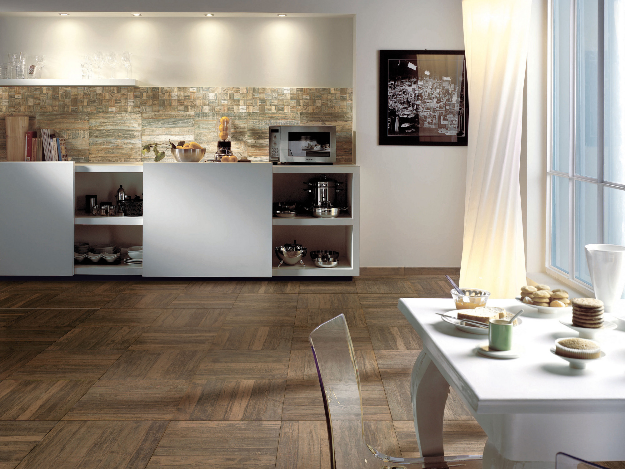 Pavimenti in finta pietra per interni - Mattonelle pavimento cucina ...