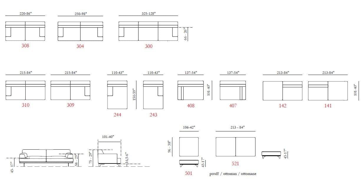 Salina canap d 39 angle collection salina by max divani for Divani design dwg