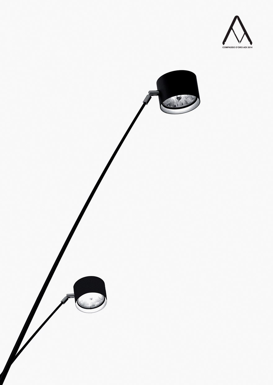 halogen adjustable floor lamp with dimmer sampei by davide groppi design enzo calabrese davide. Black Bedroom Furniture Sets. Home Design Ideas
