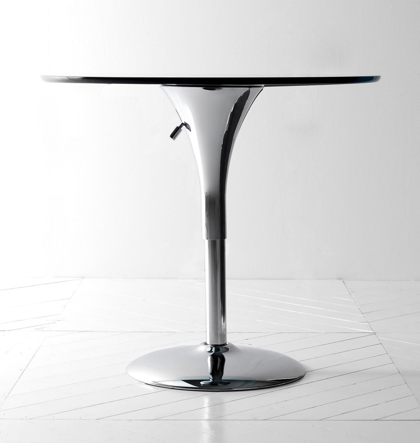 Adjustable Height Round Coffee Table: Height-adjustable Round Coffee Table SATELLITE By Esedra
