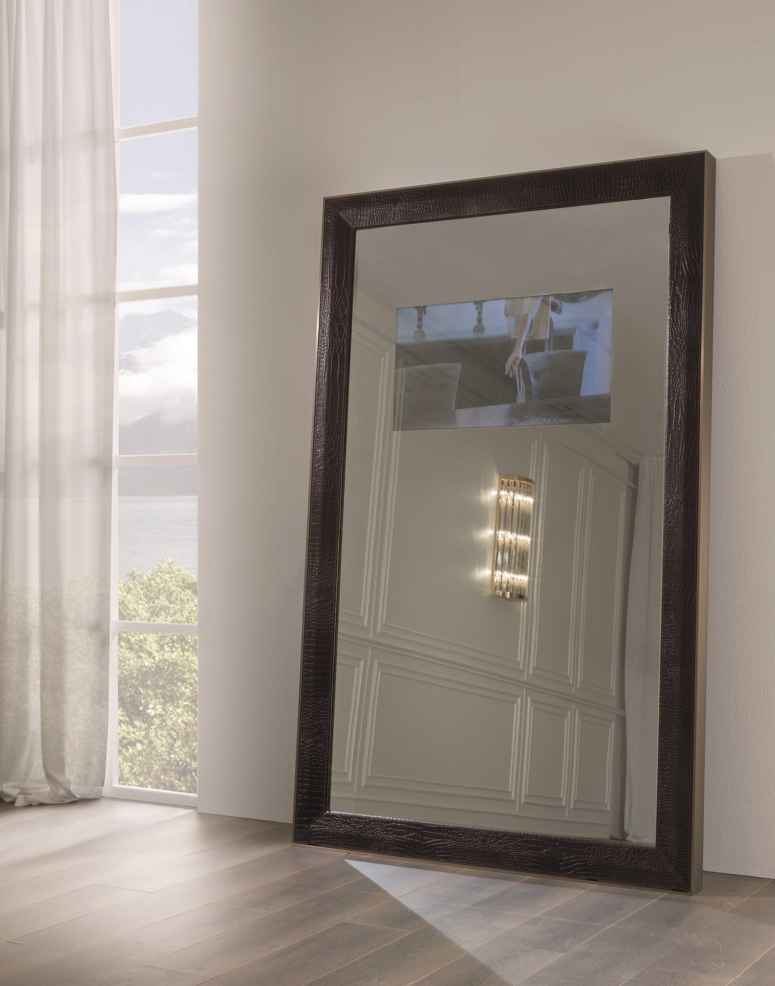 Specchio da terra rettangolare con cornice secret by for Specchio da terra kasanova
