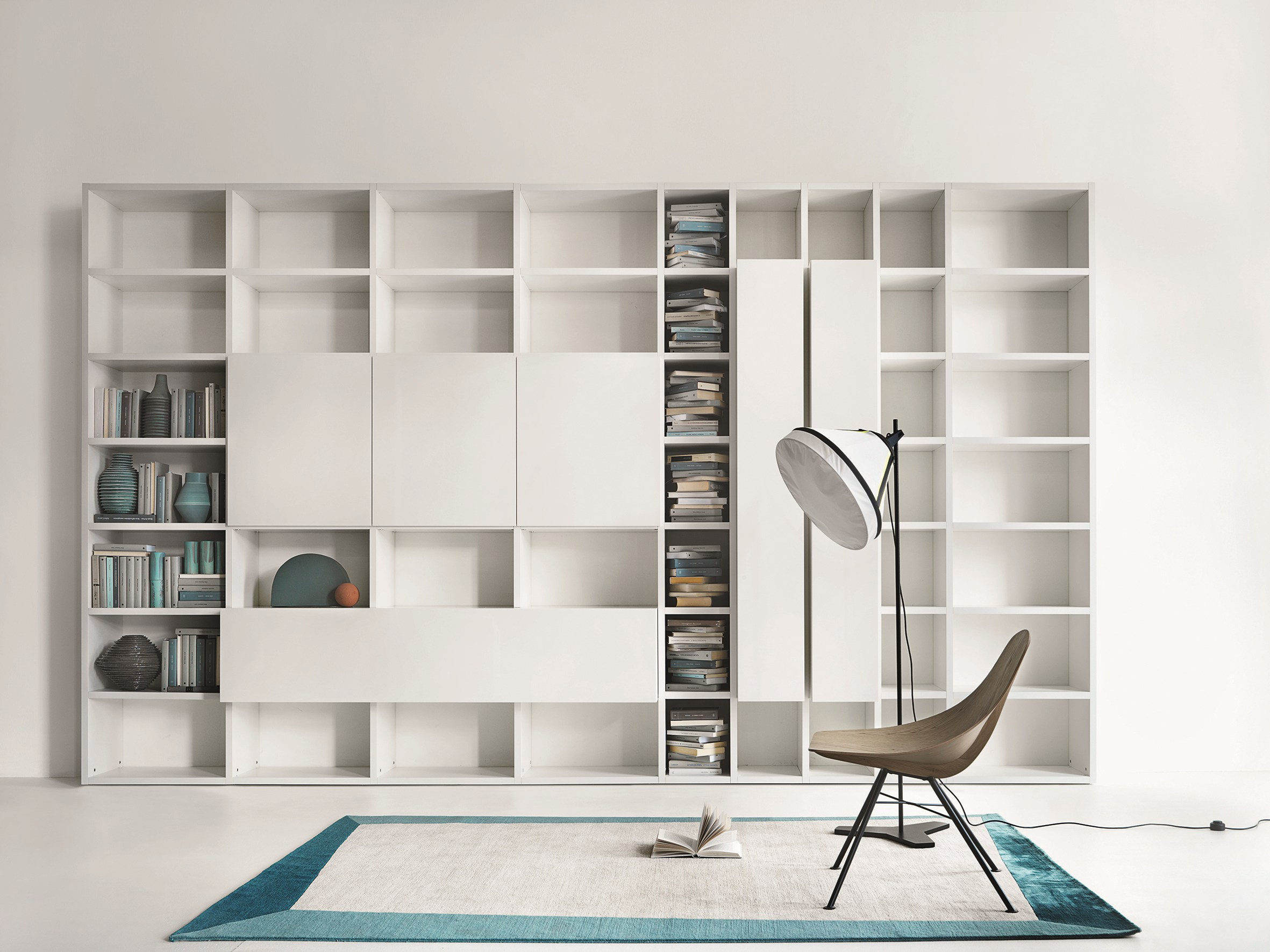 Libreria componibile modulare su misura selecta by lema for Libreria lema