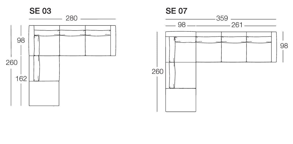 Senna divano angolare by arflex for Poltrone design dwg