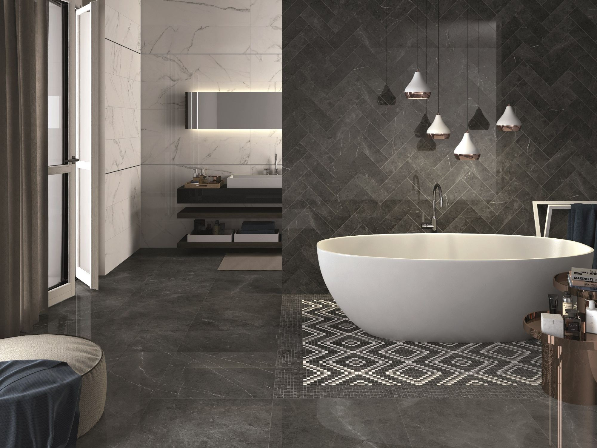 Porcelain stoneware wall/floor tiles sensi by abk industrie ceramiche