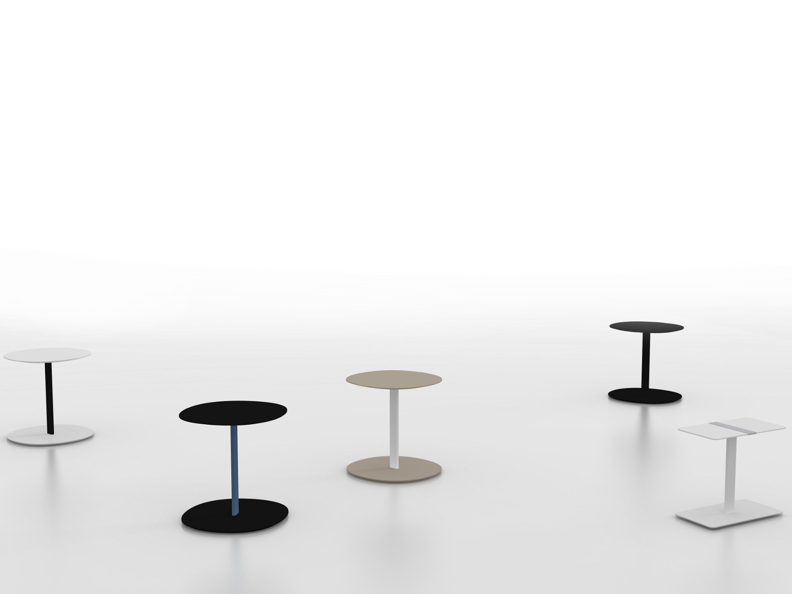 SERRA Table Basse Ronde By Viccarbe Design Victor Carrasco