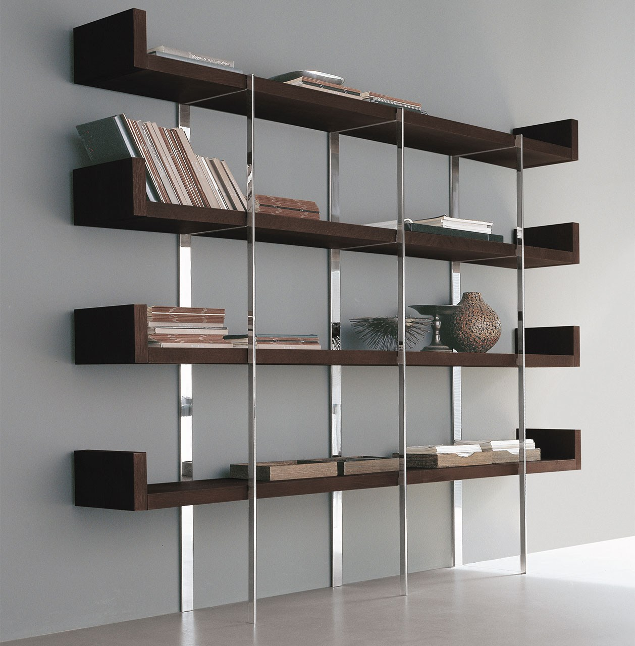 biblioth que composable en acier shelf service by alivar. Black Bedroom Furniture Sets. Home Design Ideas