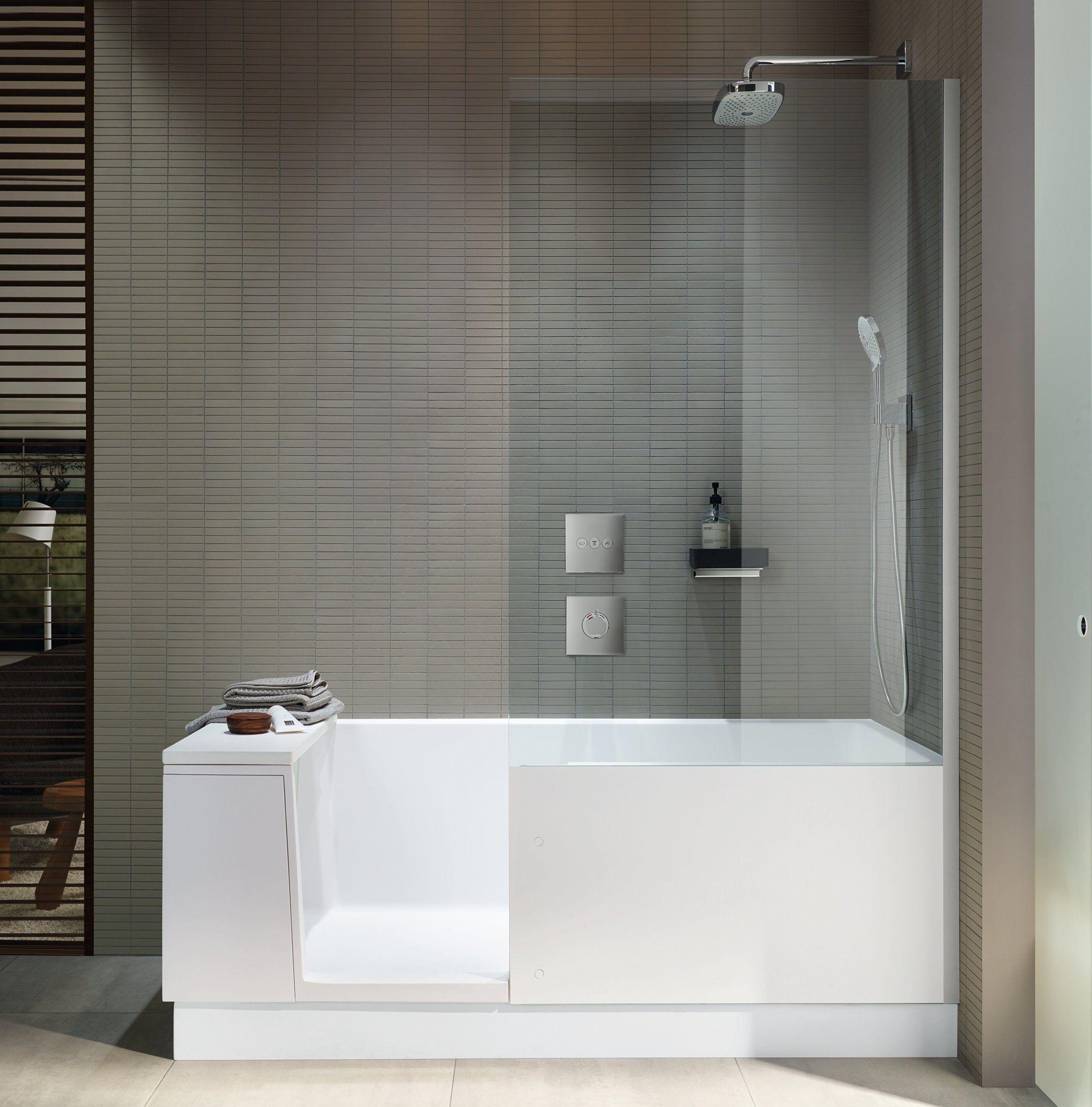 Vasca da bagno con doccia shower bath by duravit design eoos - Vasca da bagno duravit ...