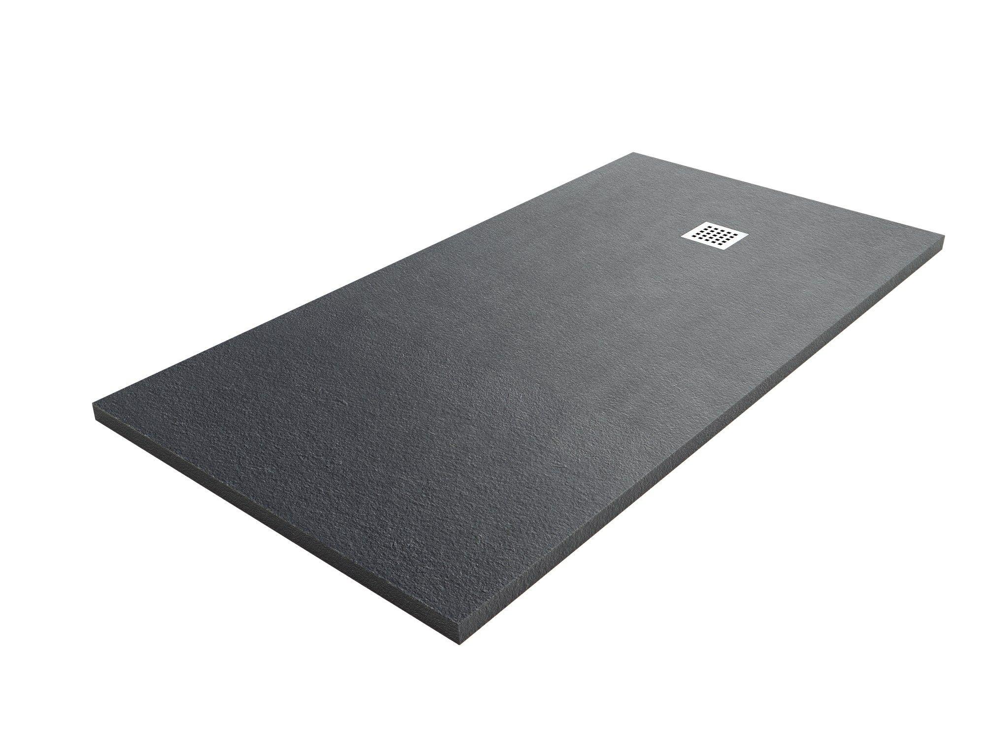 Piatto doccia antiscivolo filo pavimento in Silexpol® su misura SILEX EXTRAPIANO By Fiora