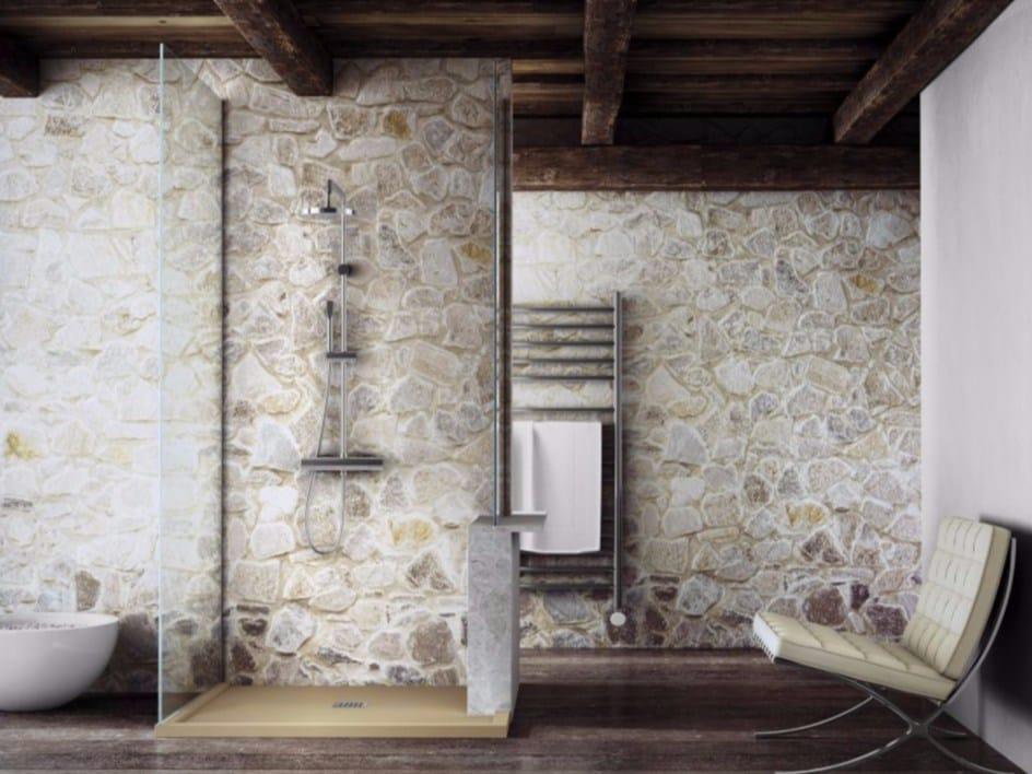 receveur de douche anti glisse en silexpol sur mesure silex cadre by fiora. Black Bedroom Furniture Sets. Home Design Ideas