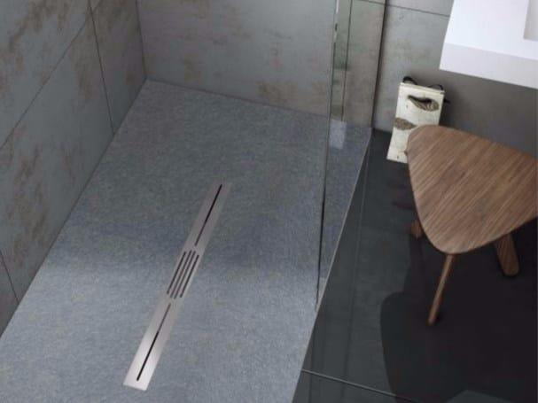 Piatto doccia antiscivolo in Silexpol® SILEX PRIVILEGE by Fiora