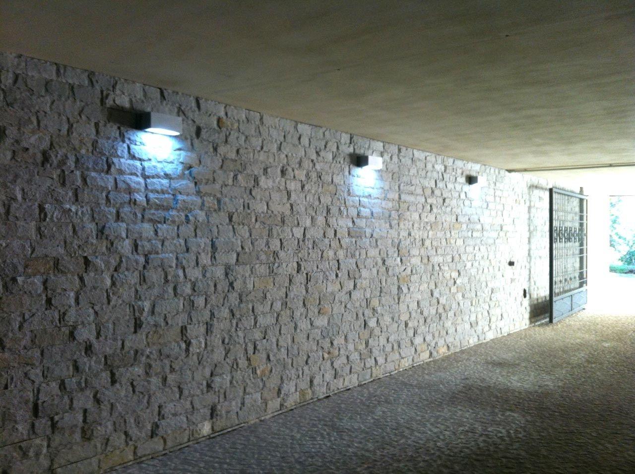 Illuminazione muro in pietra esterno illuminazione in ceramica